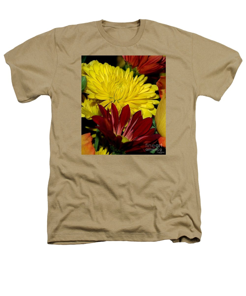 Chrysanthemum Photography Heathers T-Shirt featuring the photograph Autumn Colors by Patricia Griffin Brett