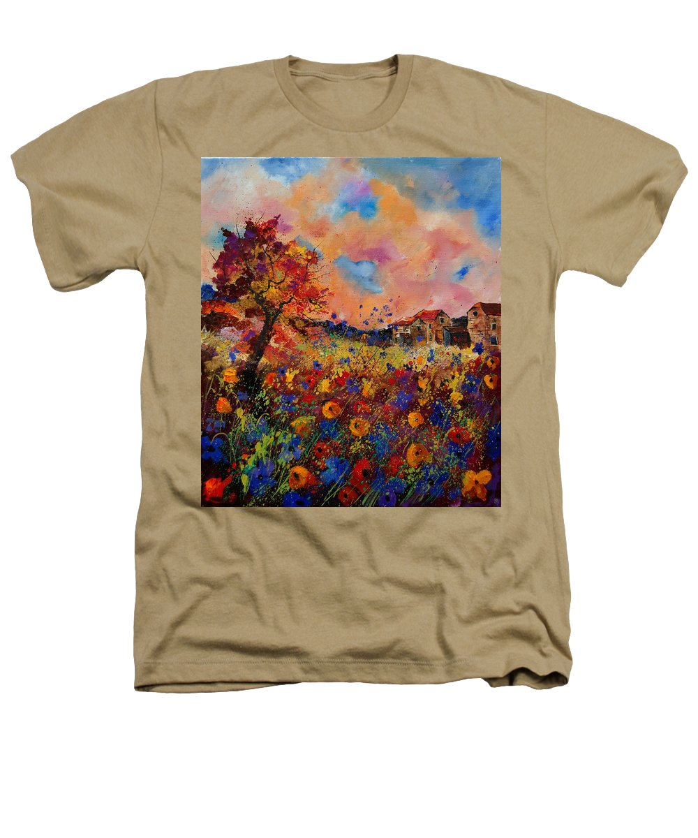 Poppies Heathers T-Shirt featuring the painting Autumn Colors by Pol Ledent