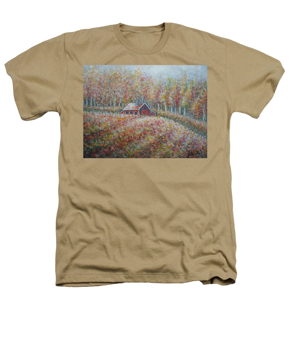 Landscape Heathers T-Shirt featuring the painting Autumn Whisper. by Natalie Holland