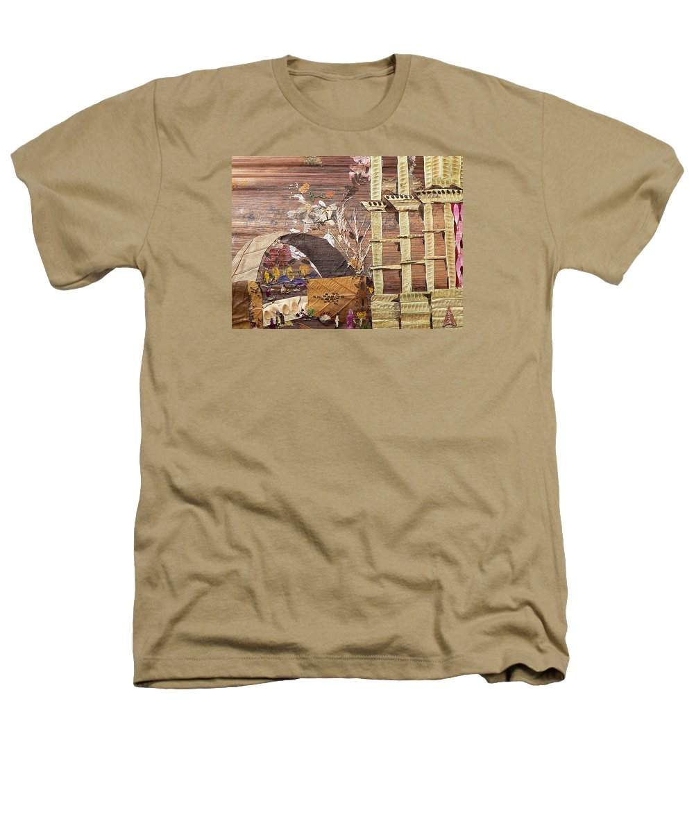 Back Door Entry For Relief To Disabled Heathers T-Shirt featuring the mixed media Back Entry by Basant soni