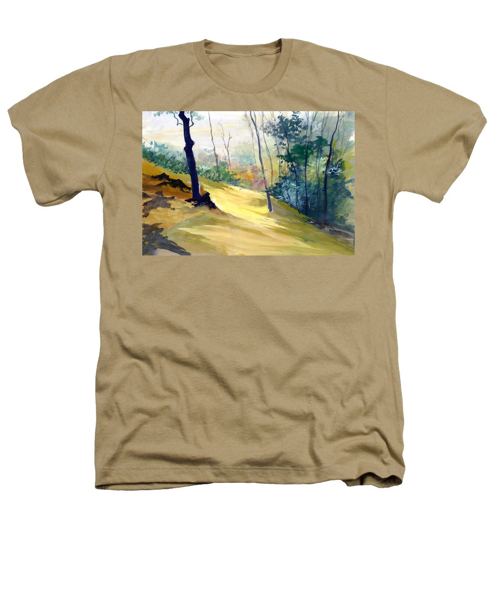 Landscape Heathers T-Shirt featuring the painting Balance by Anil Nene