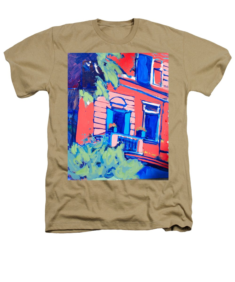 Balcony Heathers T-Shirt featuring the painting Balcone by Kurt Hausmann