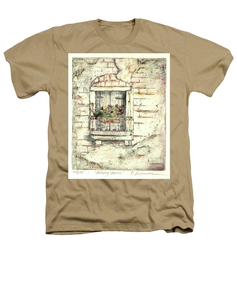 Venice Heathers T-Shirt featuring the painting Balcony Venice by Richard Bulman