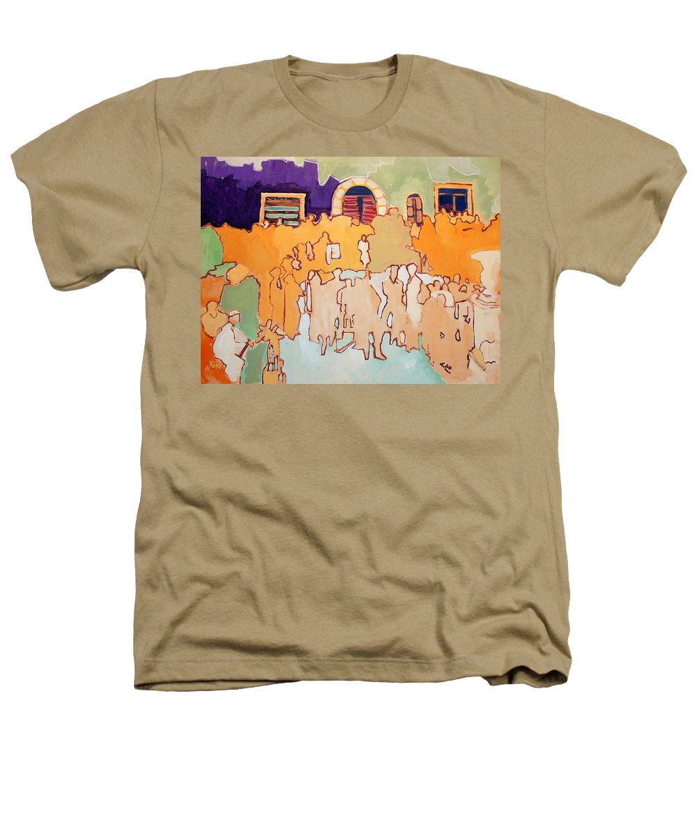 Band Heathers T-Shirt featuring the painting Banda Di Villaggio by Kurt Hausmann