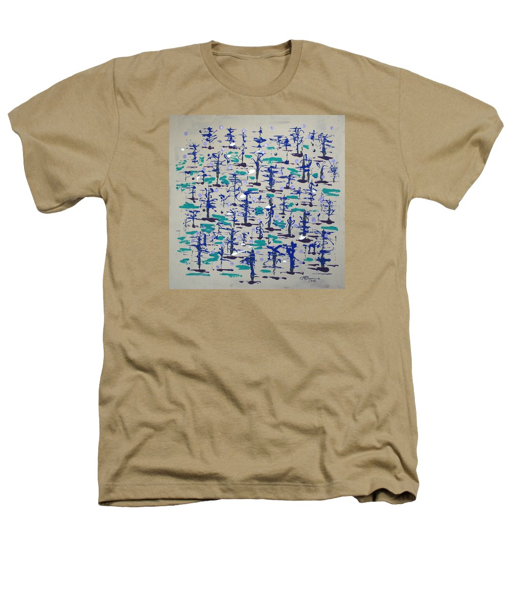 Abstract Heathers T-Shirt featuring the painting Bare Trees by J R Seymour