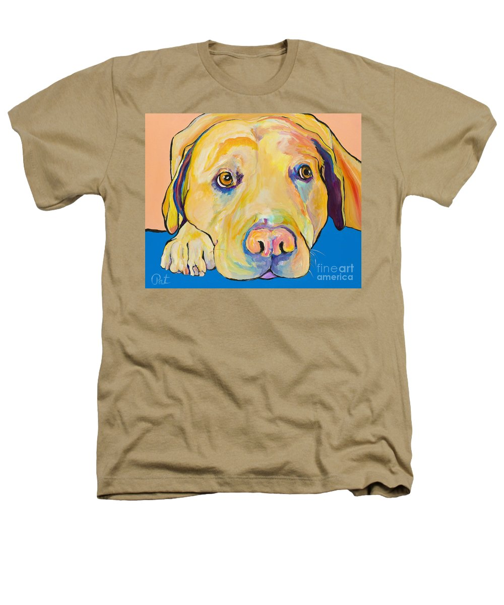 Dog Paintings Yellow Lab Puppy Colorful Animals Pets Heathers T-Shirt featuring the painting Bath Time by Pat Saunders-White