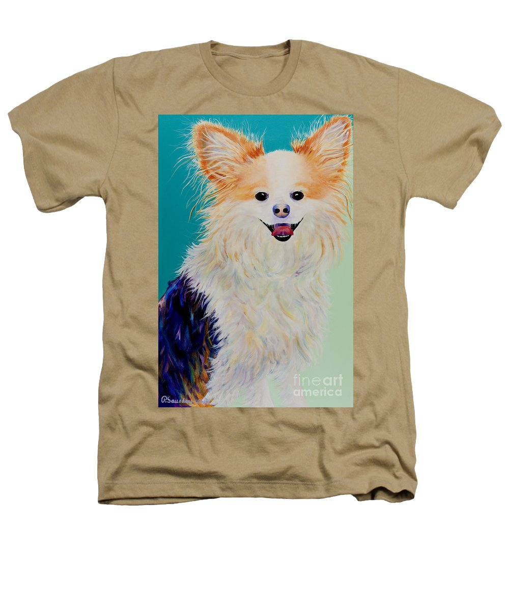 Animal Heathers T-Shirt featuring the painting Baxter by Pat Saunders-White