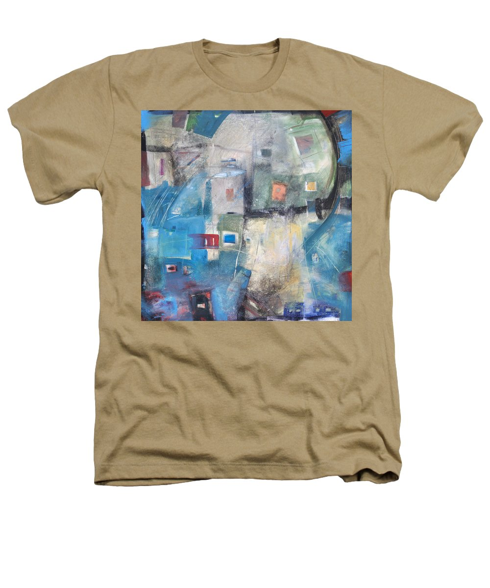 Abstract Heathers T-Shirt featuring the painting Bayer Works Wonders by Tim Nyberg