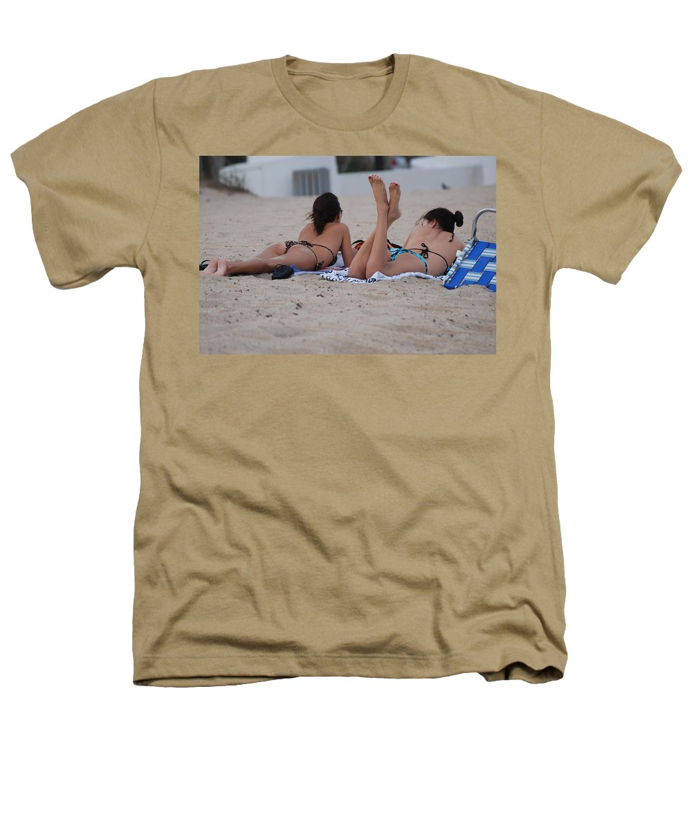 Girls Heathers T-Shirt featuring the photograph Beach Combers by Rob Hans