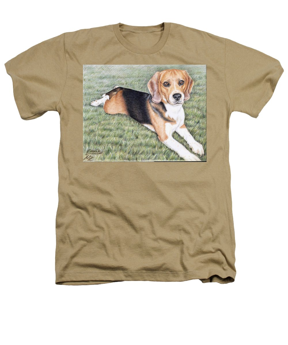 Dog Heathers T-Shirt featuring the drawing Beagle by Nicole Zeug