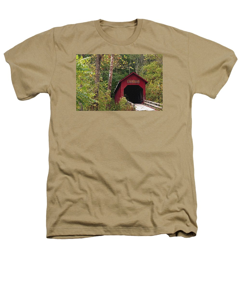 Covered Bridge Heathers T-Shirt featuring the photograph Bean Blossom Bridge I by Margie Wildblood