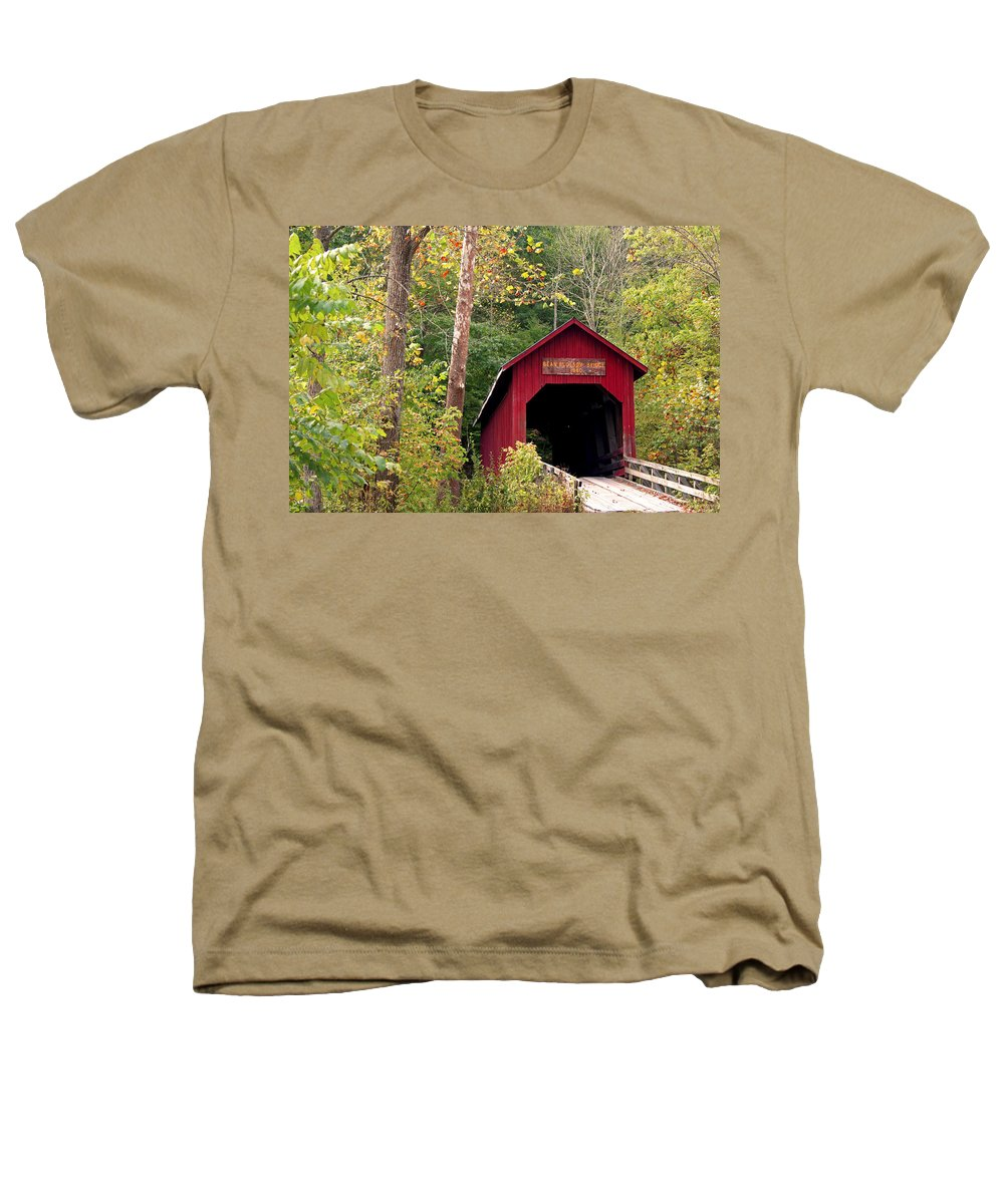 Covered Bridge Heathers T-Shirt featuring the photograph Bean Blossom Bridge II by Margie Wildblood