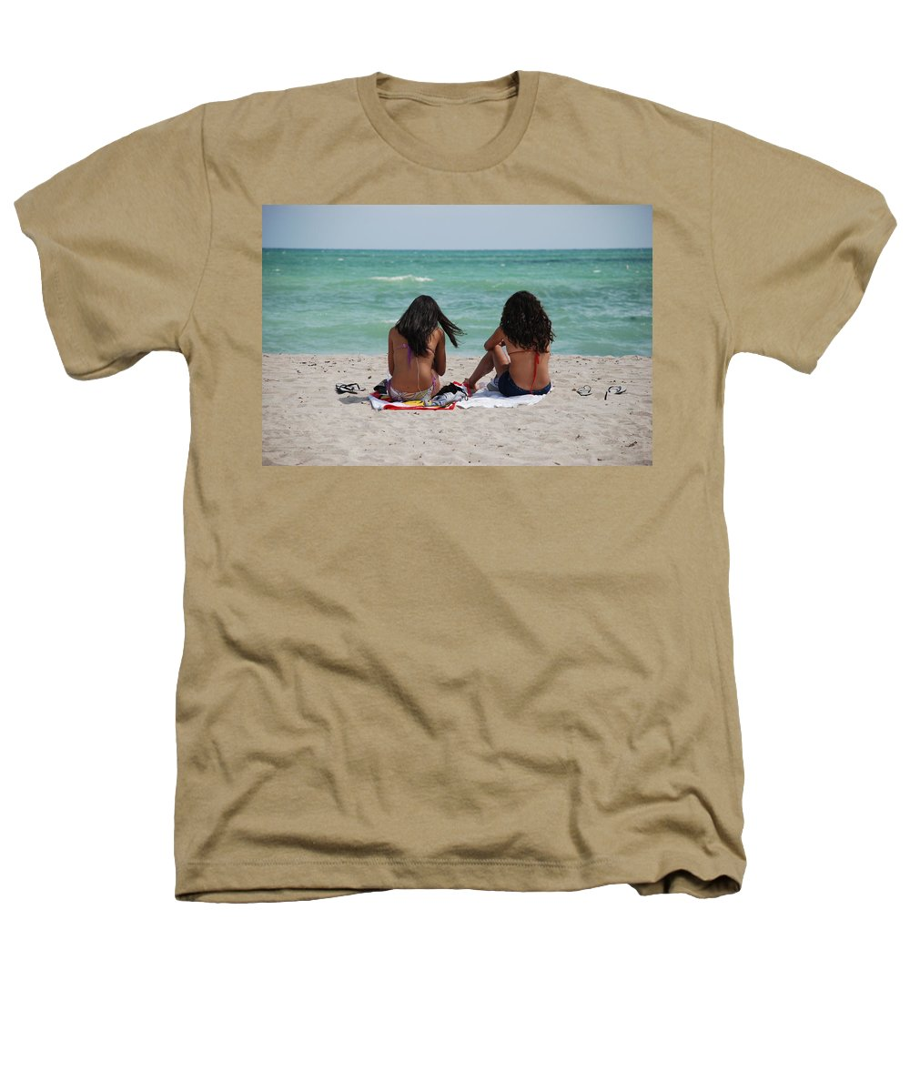 Women Heathers T-Shirt featuring the photograph Beauties On The Beach by Rob Hans