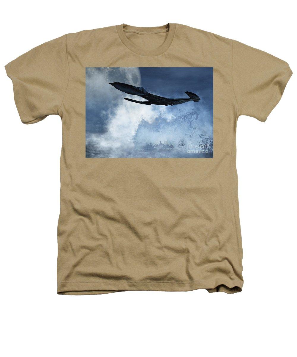 Flight Heathers T-Shirt featuring the digital art Below Radar by Richard Rizzo