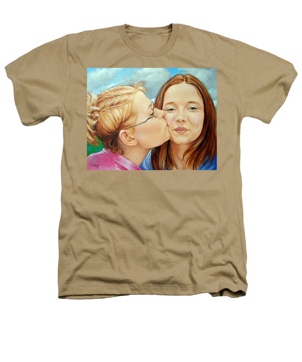 Best Friends Heathers T-Shirt featuring the painting Best Buds by Jerrold Carton