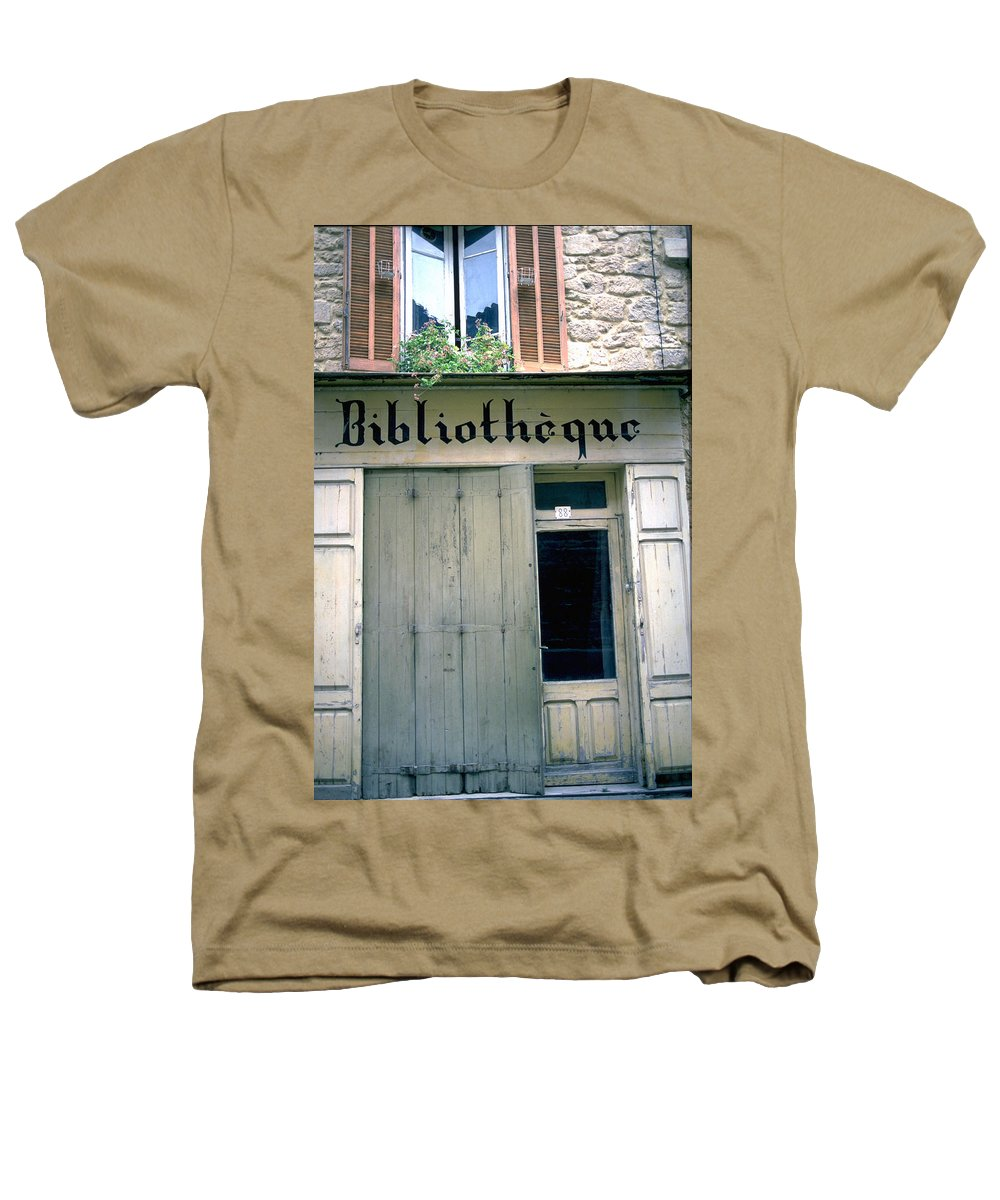 Bibliotheque Heathers T-Shirt featuring the photograph Bibliotheque by Flavia Westerwelle