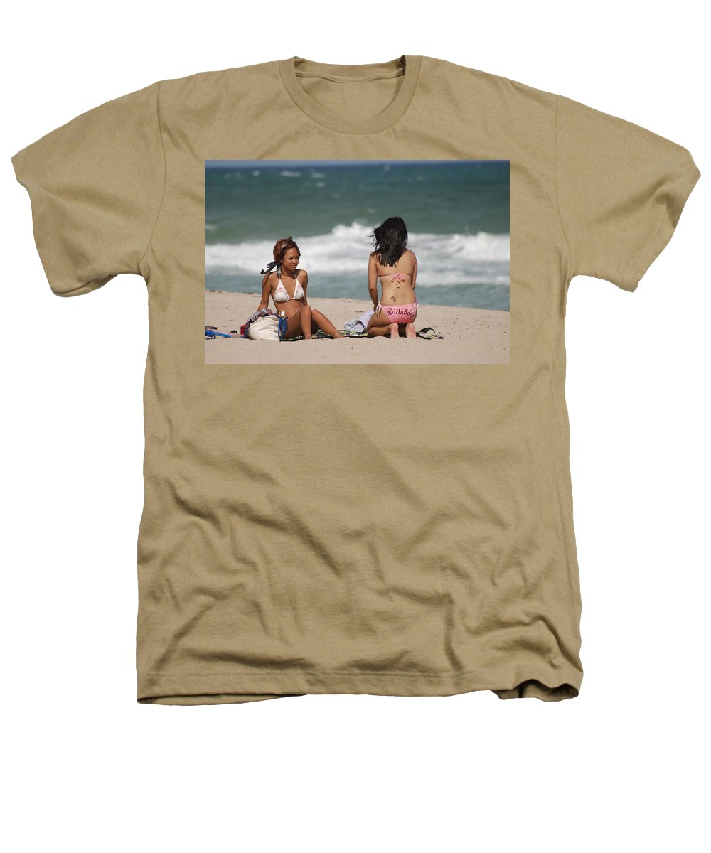 Sea Scape Heathers T-Shirt featuring the photograph Billabong Girls by Rob Hans