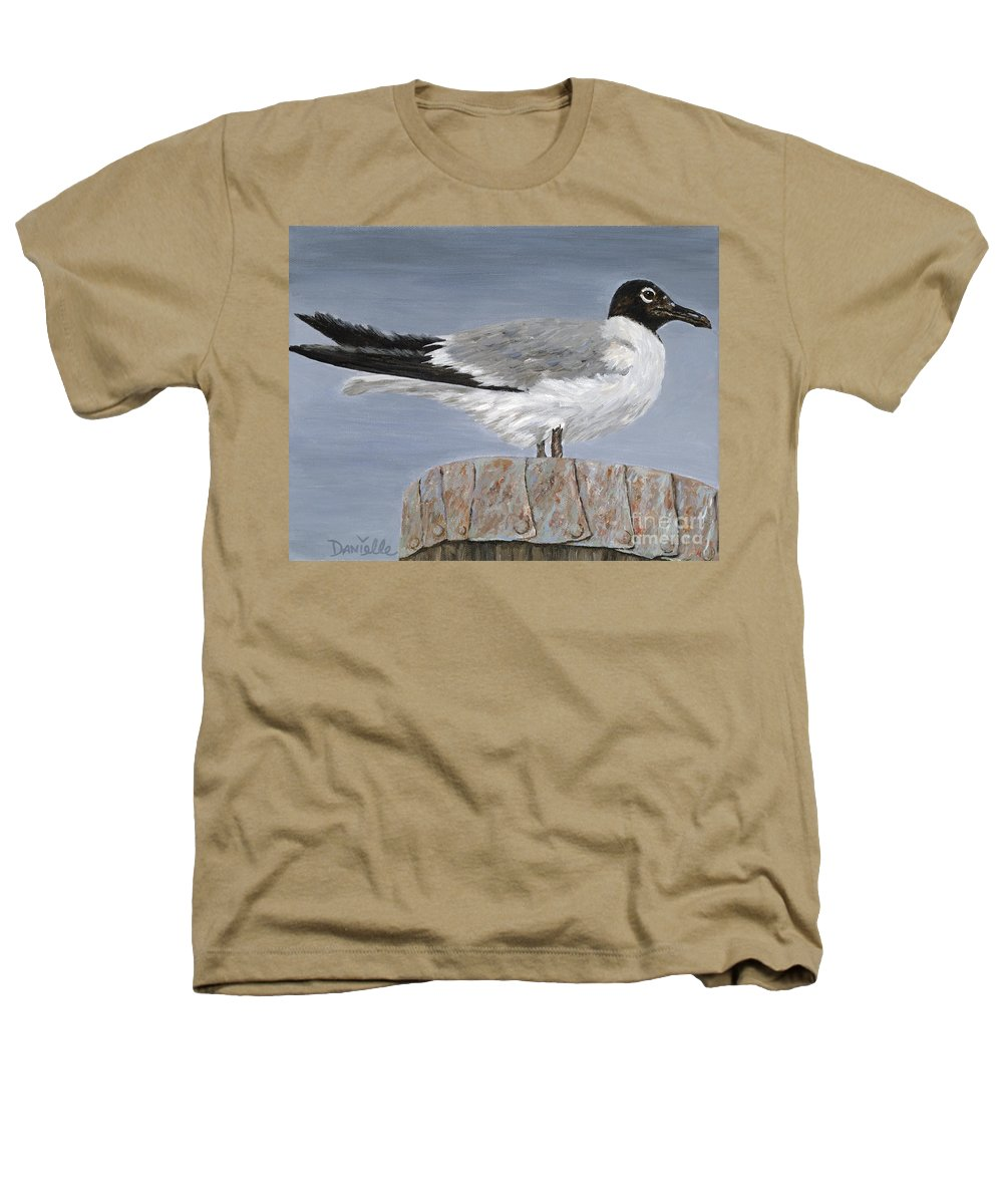 Seagull Heathers T-Shirt featuring the painting Bimini Gull by Danielle Perry