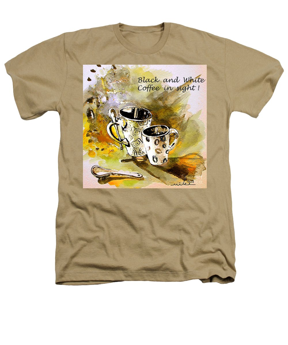 Cafe Crem Heathers T-Shirt featuring the painting Black And White by Miki De Goodaboom