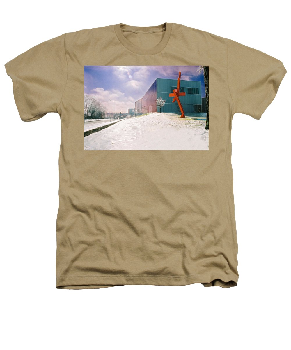 Landscape Heathers T-Shirt featuring the photograph Bloch Building At The Nelson Atkins Museum by Steve Karol
