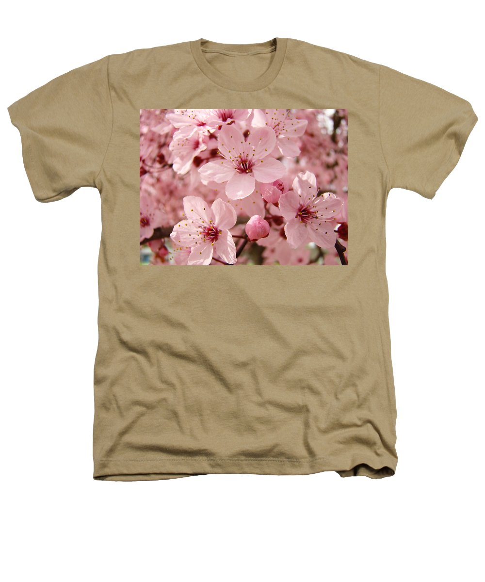 Nature Heathers T-Shirt featuring the photograph Blossoms Art Prints 63 Pink Blossoms Spring Tree Blossoms by Baslee Troutman