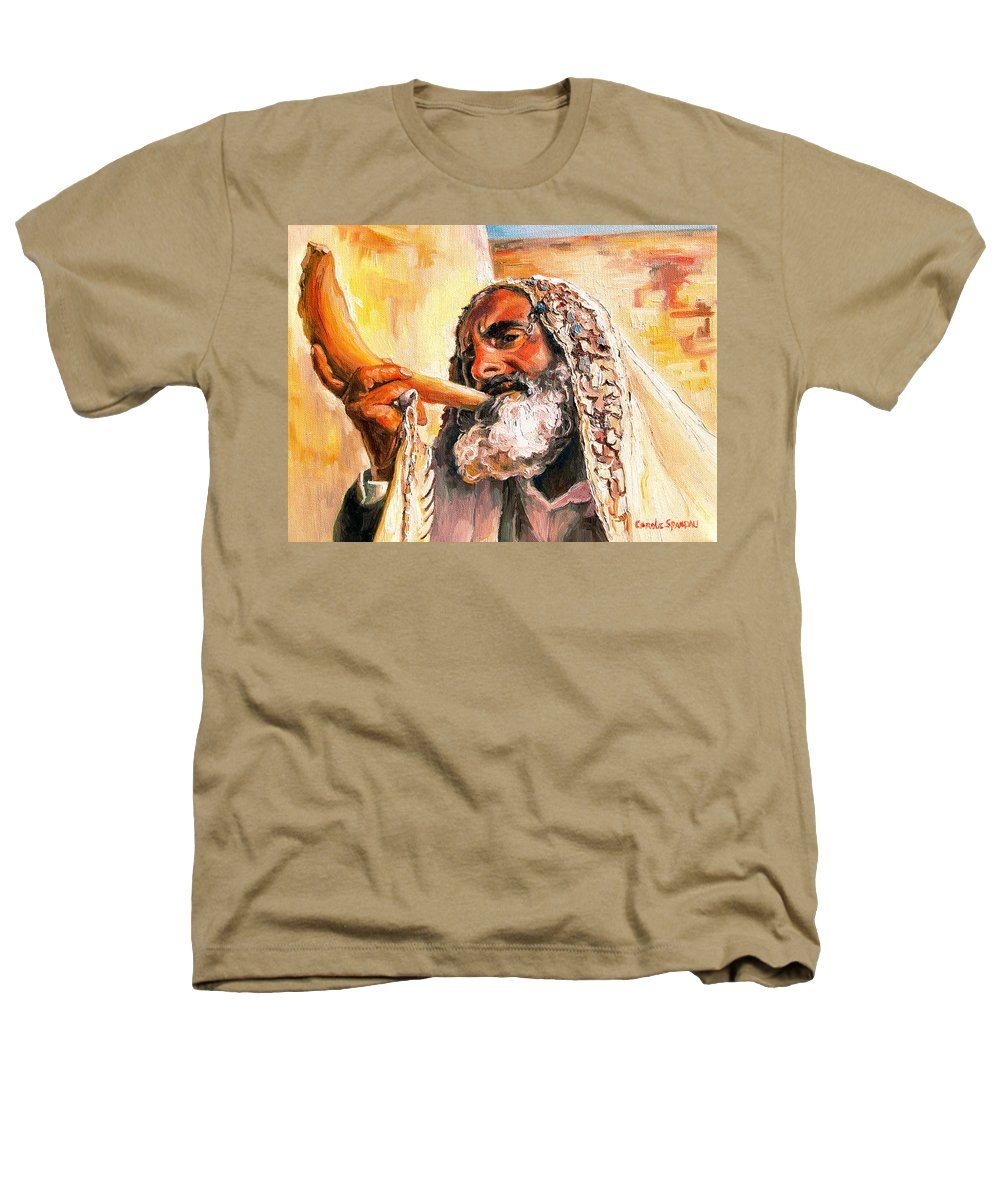 Rabbis Heathers T-Shirt featuring the painting Blow The Trumpet In Zion by Carole Spandau
