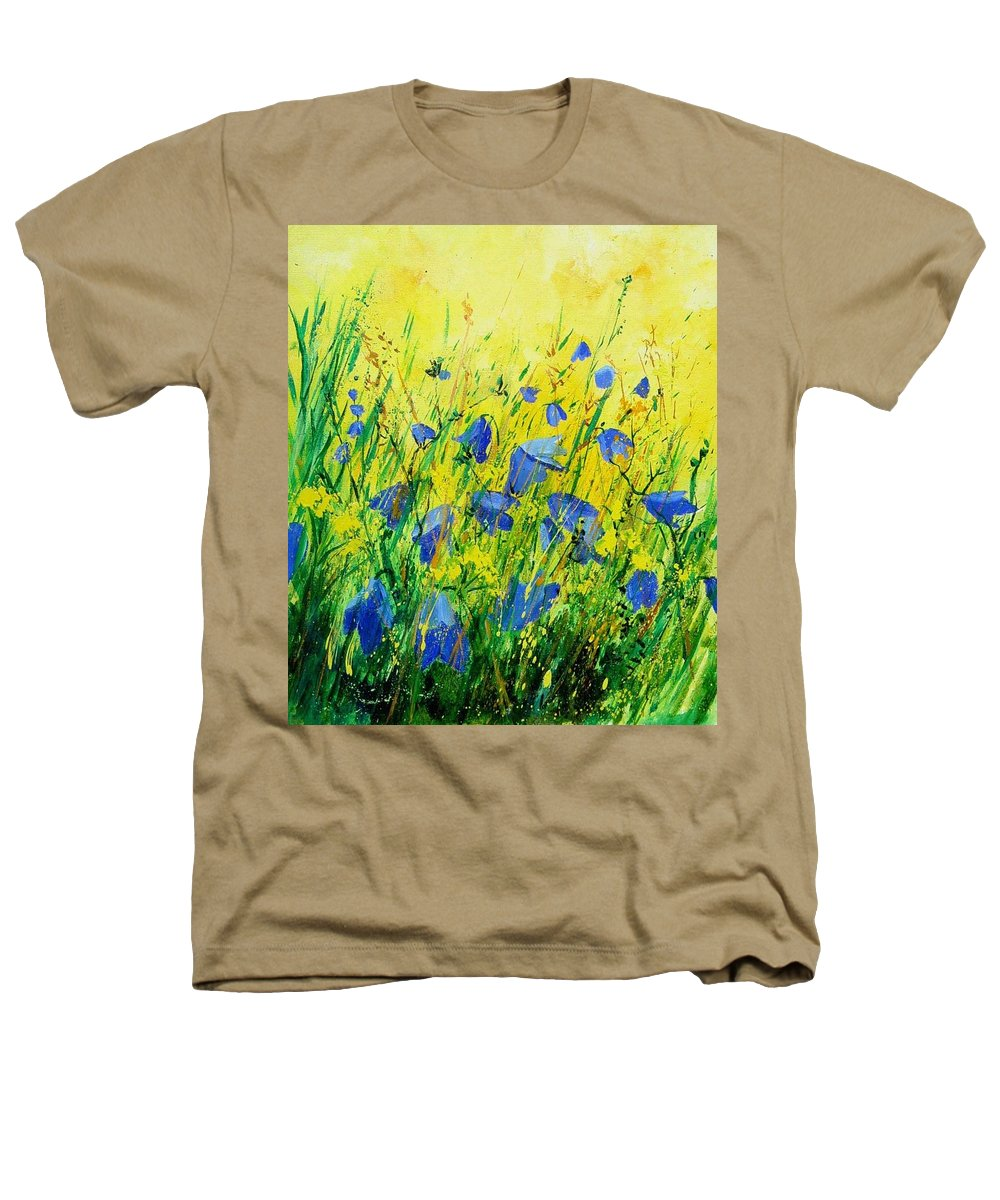 Poppies Heathers T-Shirt featuring the painting Blue Bells by Pol Ledent