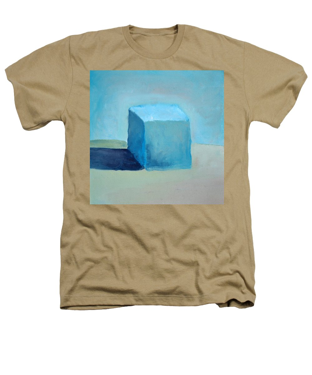 Blue Heathers T-Shirt featuring the painting Blue Cube Still Life by Michelle Calkins
