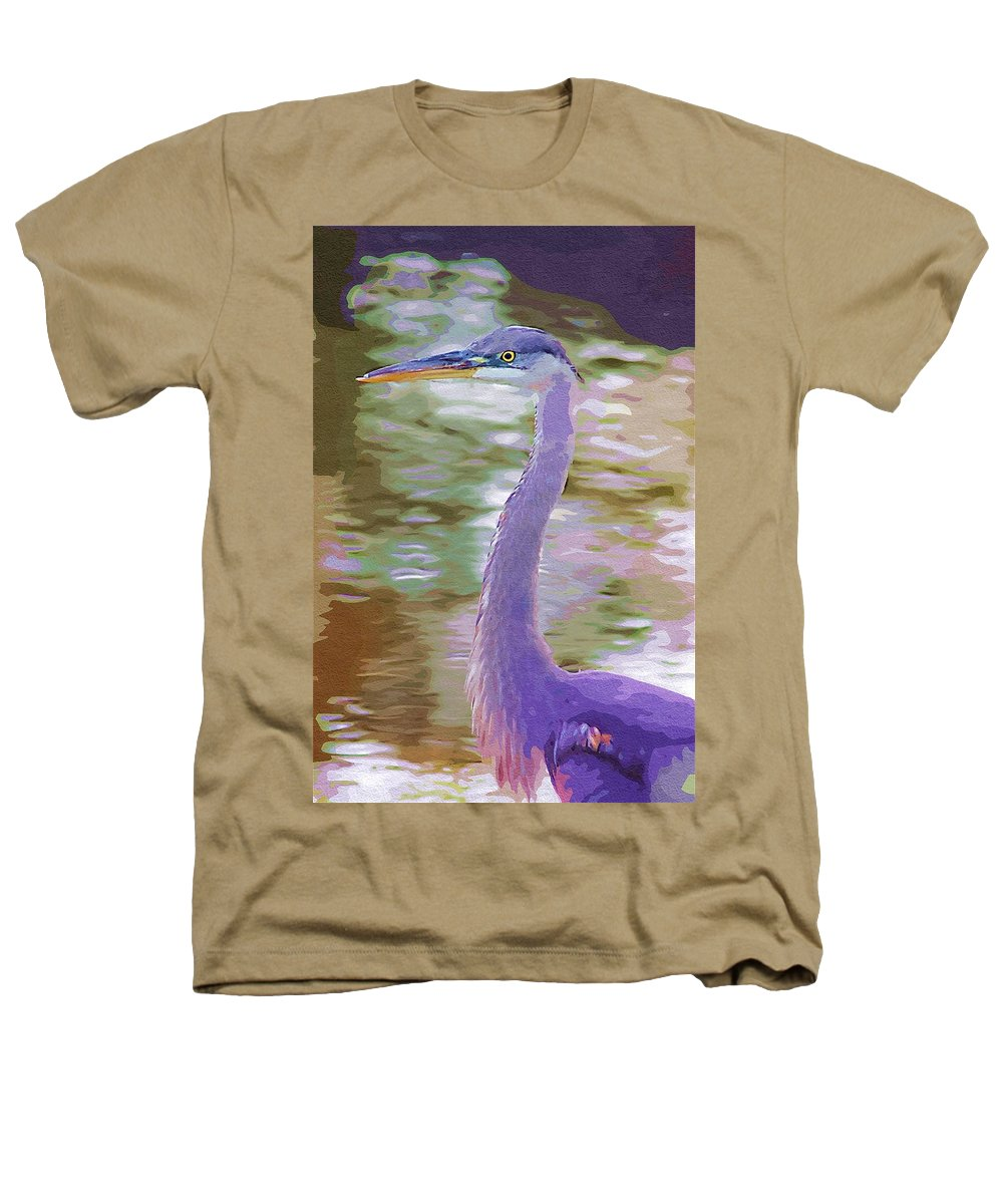 Ponds Heathers T-Shirt featuring the photograph Blue Heron by Donna Bentley