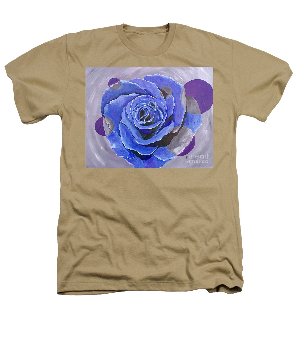 Acrylic Heathers T-Shirt featuring the painting Blue Ice by Herschel Fall