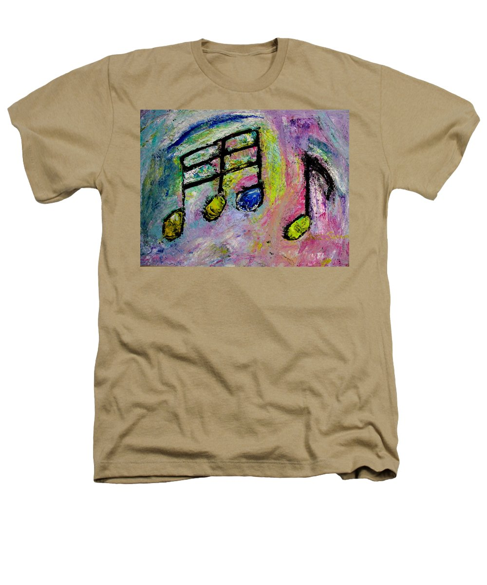 Impressionist Heathers T-Shirt featuring the painting Blue Note by Anita Burgermeister