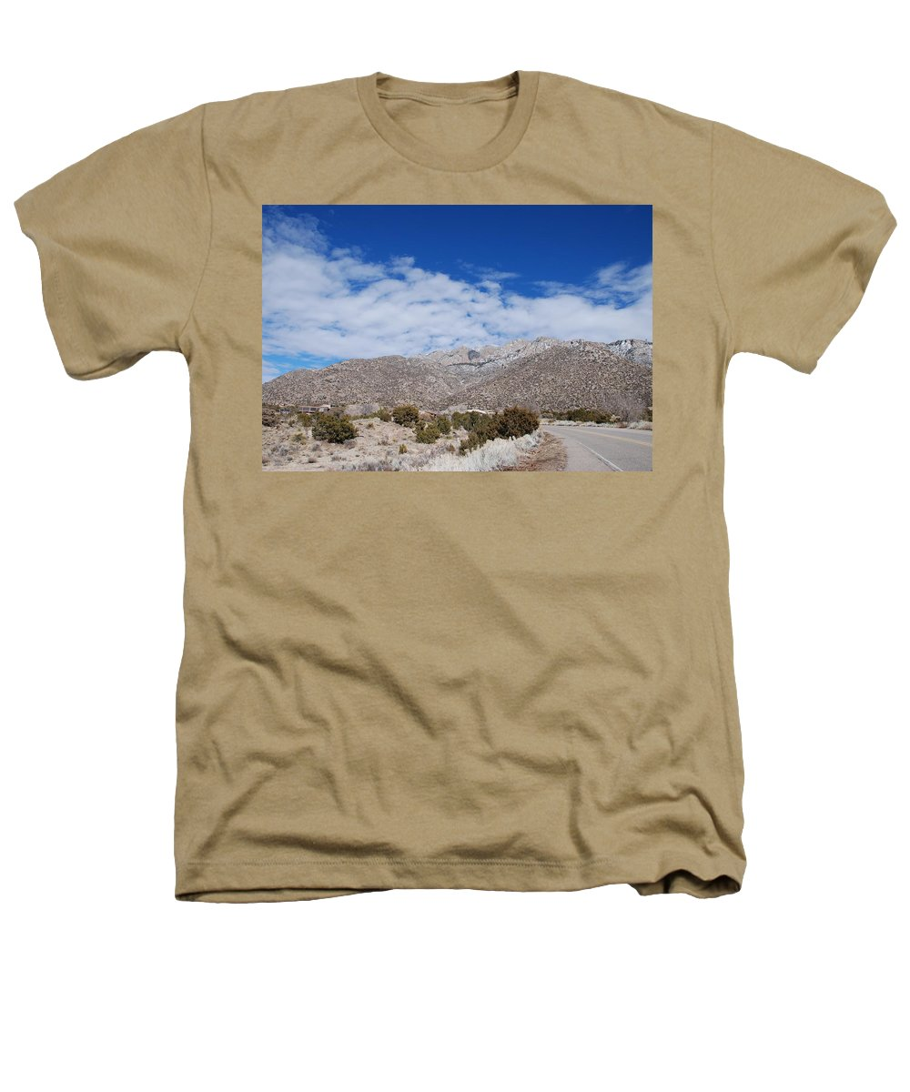 Sandia Mountains Heathers T-Shirt featuring the photograph Blue Skys Over The Sandias by Rob Hans