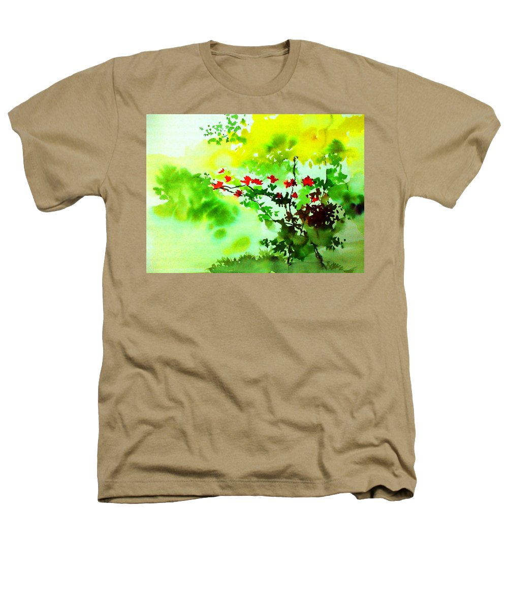 Floral Heathers T-Shirt featuring the painting Boganwel by Anil Nene