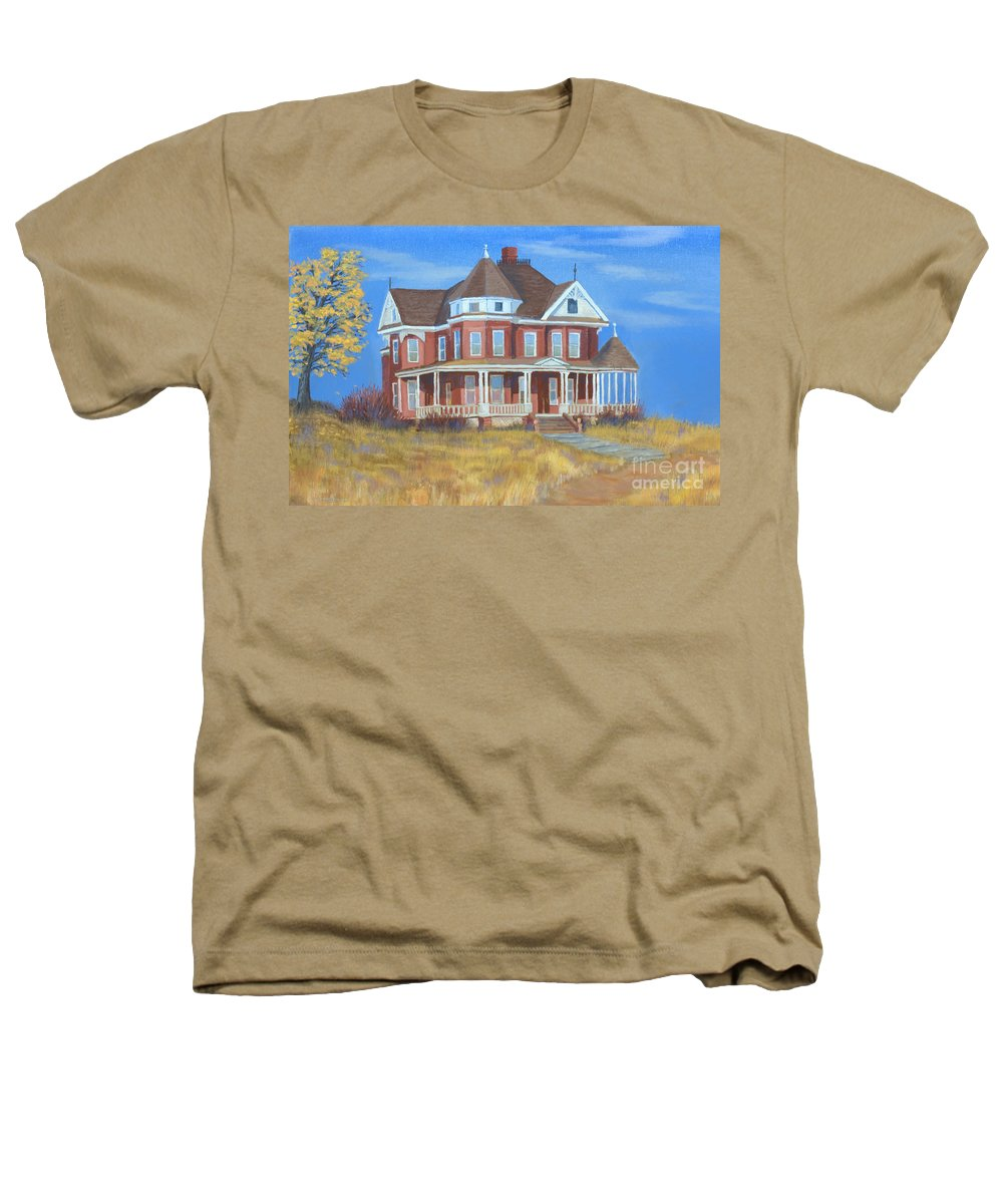 Boulder Heathers T-Shirt featuring the painting Boulder Victorian by Jerry McElroy
