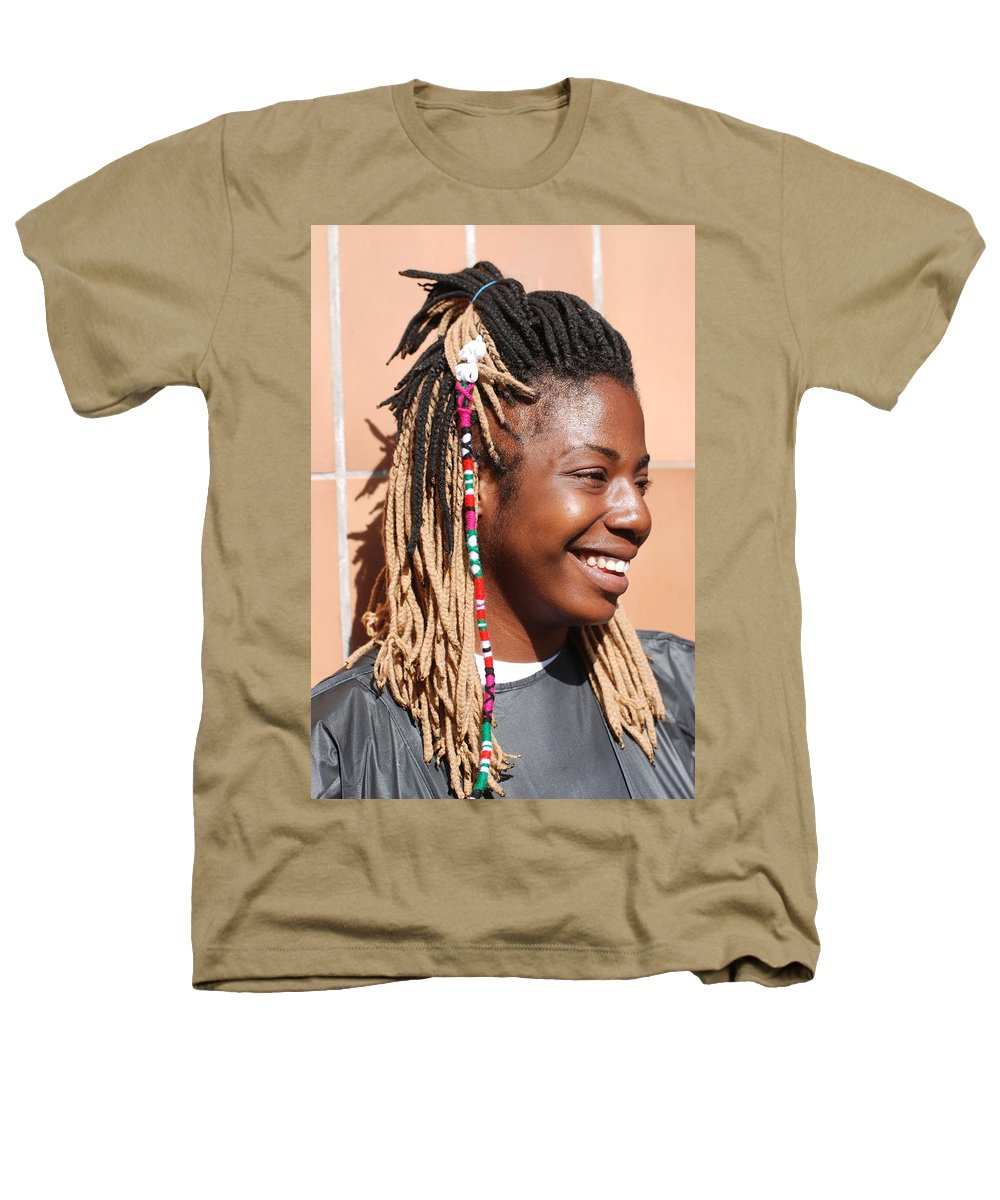 People Heathers T-Shirt featuring the photograph Braided Lady by Rob Hans