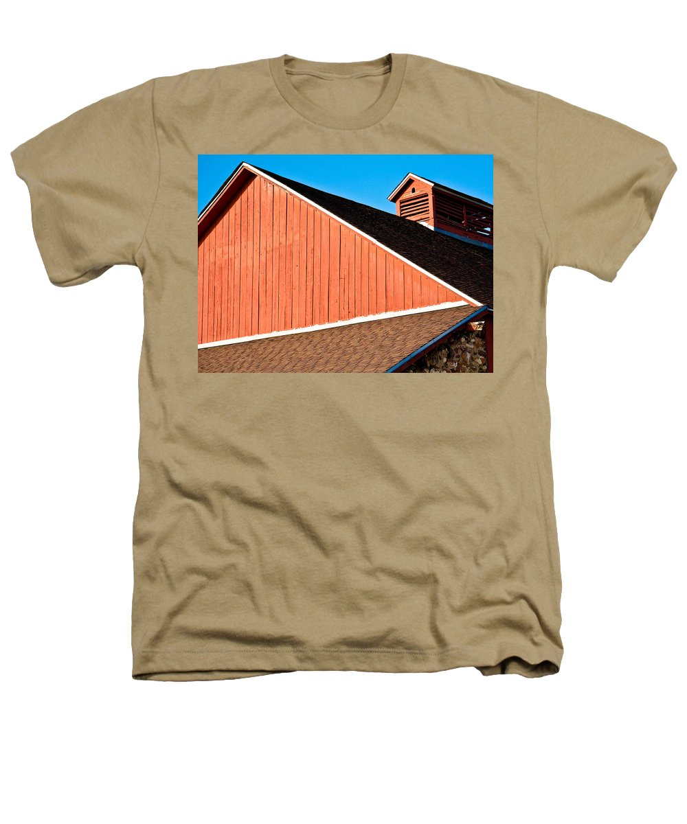 Americana Heathers T-Shirt featuring the photograph Bright Red Barn by Marilyn Hunt
