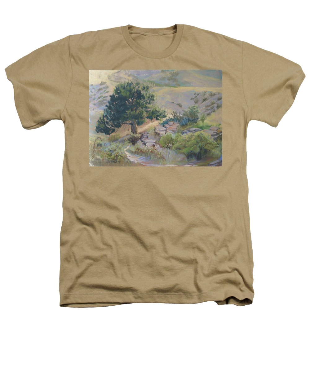 Pine Tree Heathers T-Shirt featuring the painting Buckhorn Canyon by Heather Coen