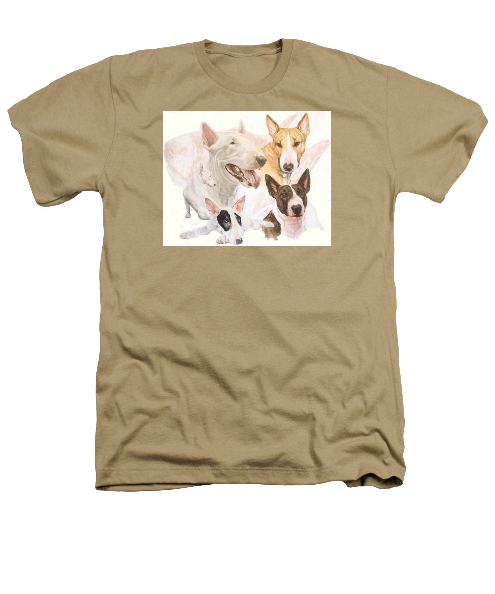 Purebred Heathers T-Shirt featuring the mixed media Bull Terrier W/ghost by Barbara Keith