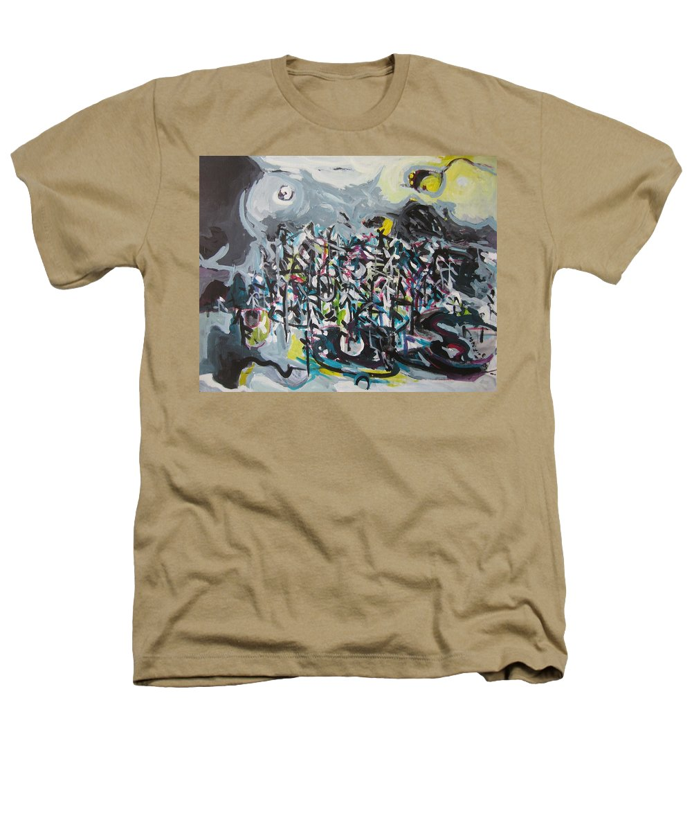 Abstract Paintings Heathers T-Shirt featuring the painting Bummer Flat11 by Seon-Jeong Kim