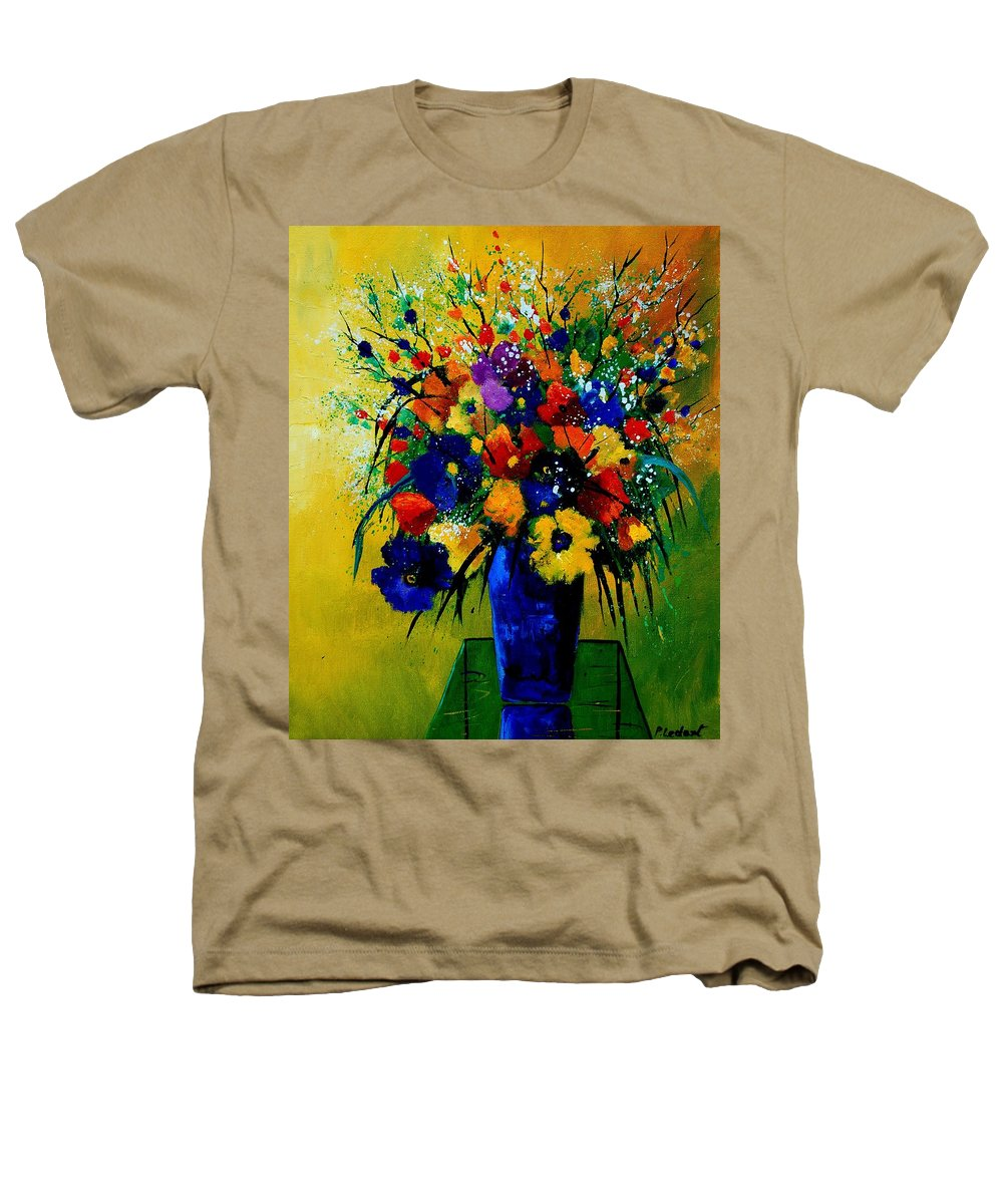Poppies Heathers T-Shirt featuring the painting Bunch 0508 by Pol Ledent