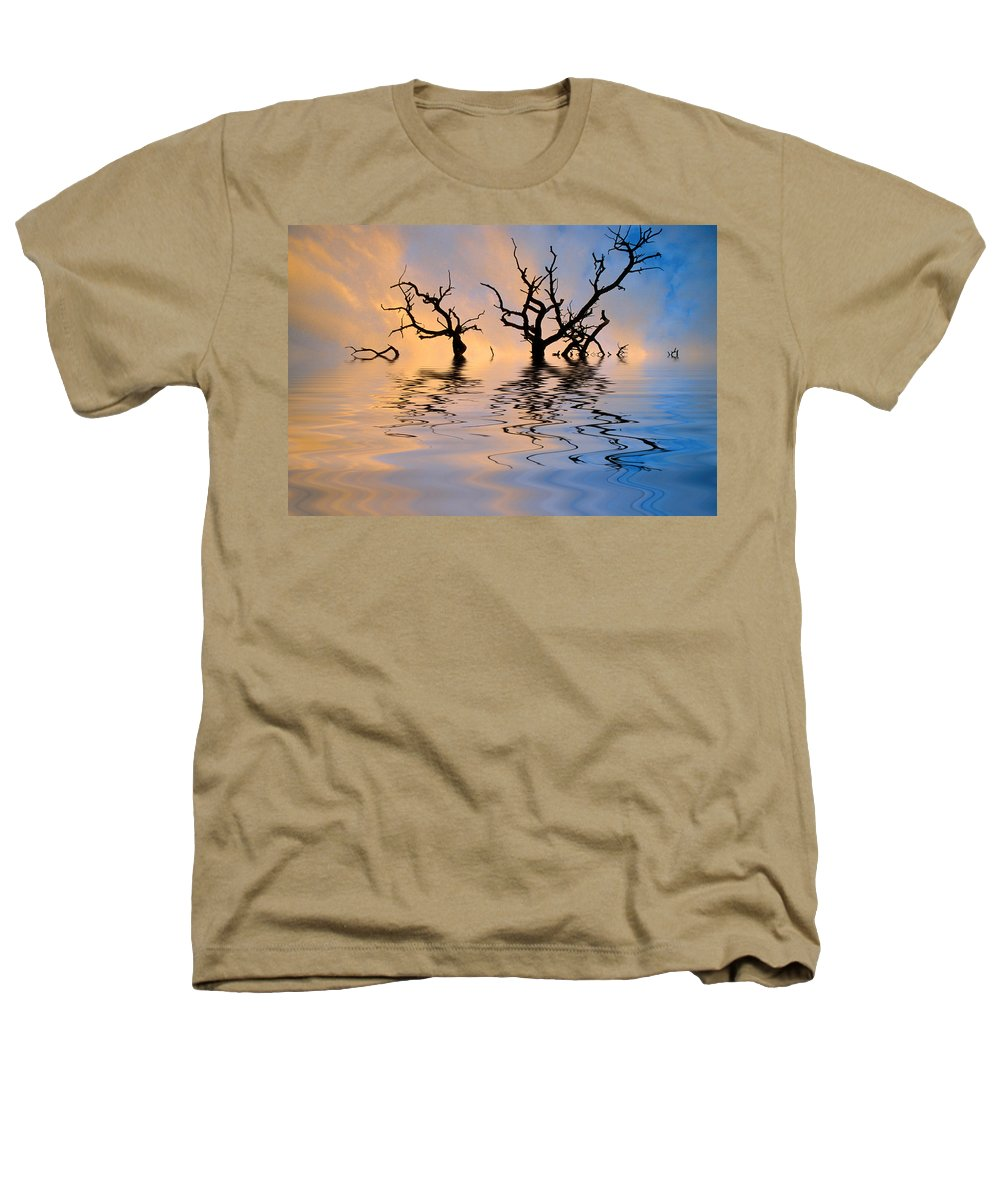 Original Art Heathers T-Shirt featuring the photograph Slowly Sinking by Jerry McElroy
