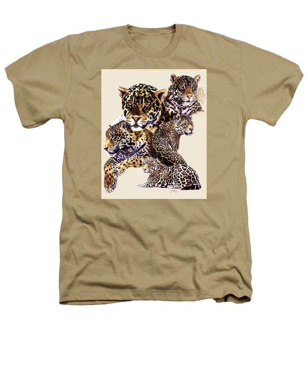 Jaguar Heathers T-Shirt featuring the drawing Burn by Barbara Keith