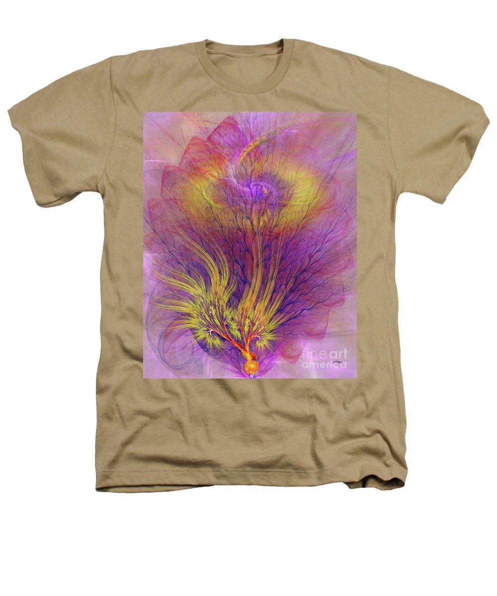 Burning Bush Heathers T-Shirt featuring the digital art Burning Bush by John Beck