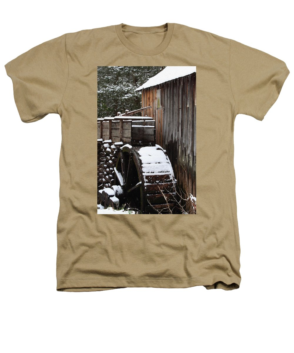Great Smoky Mountains Heathers T-Shirt featuring the photograph Cades Cove Mill I by Margie Wildblood