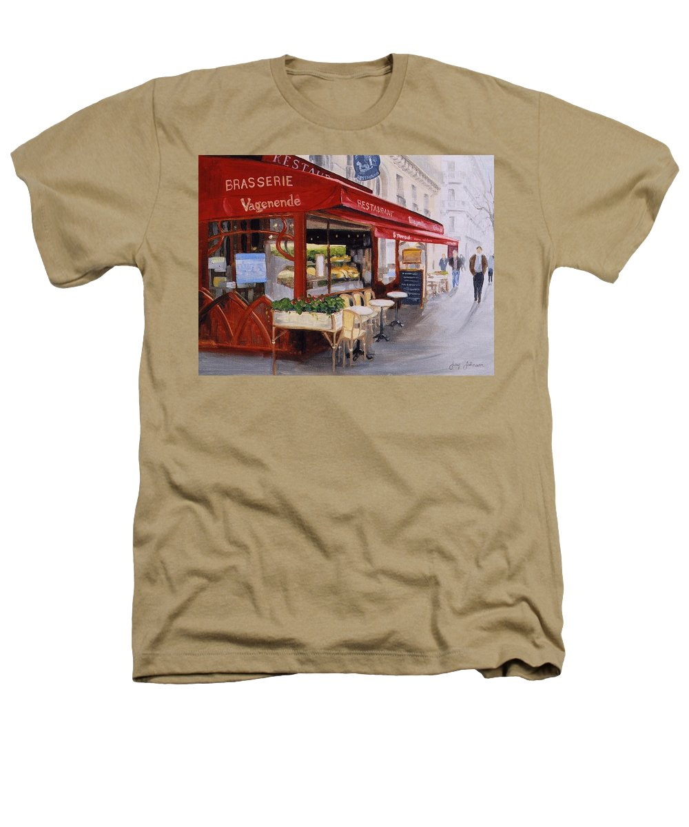 Cafe Heathers T-Shirt featuring the painting Cafe 4 by Jay Johnson