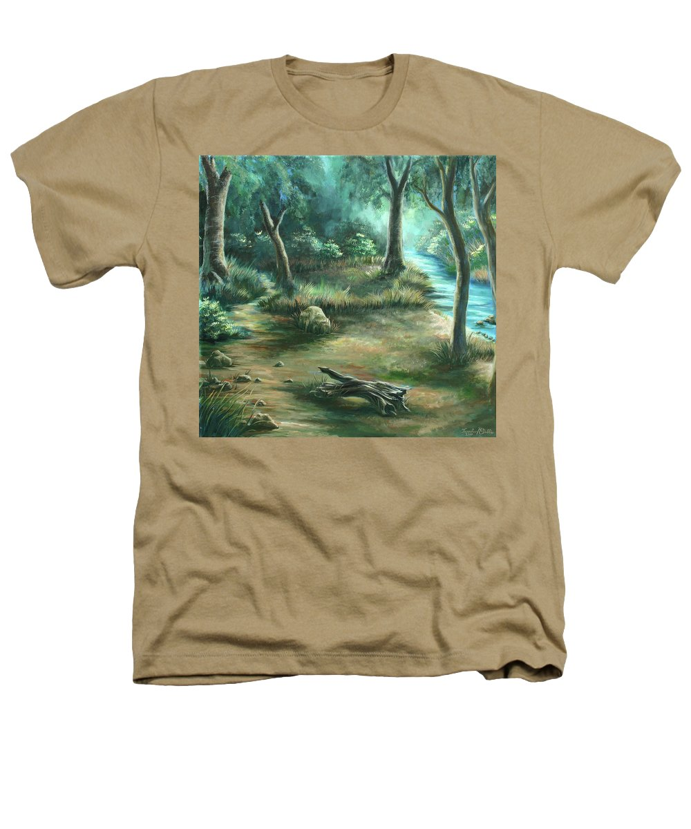 Landscape Heathers T-Shirt featuring the painting Camping At Figueroa Mountains by Jennifer McDuffie