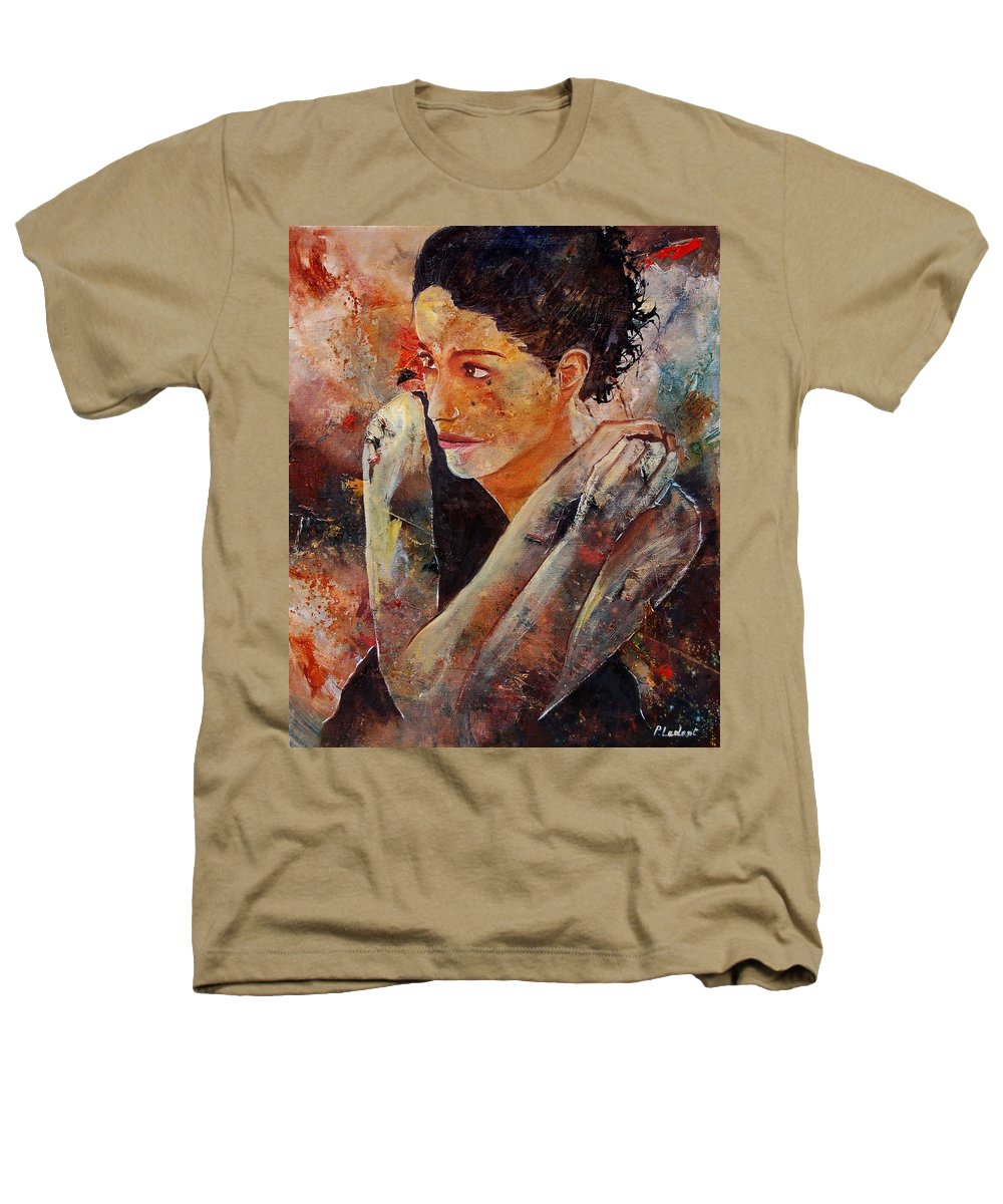 Figurative Heathers T-Shirt featuring the painting Candid Eyes by Pol Ledent