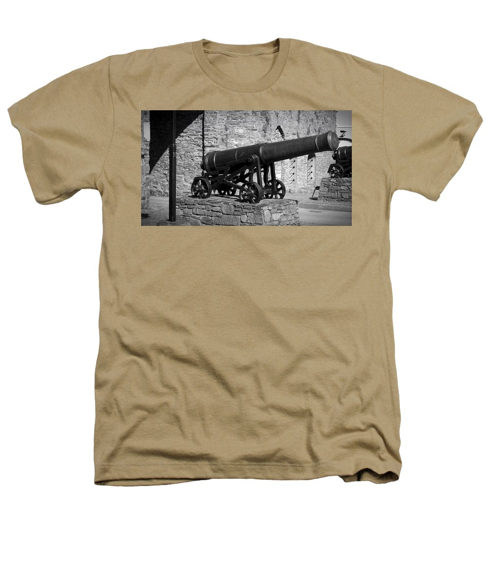 Irish Heathers T-Shirt featuring the photograph Cannon At Macroom Castle Ireland by Teresa Mucha