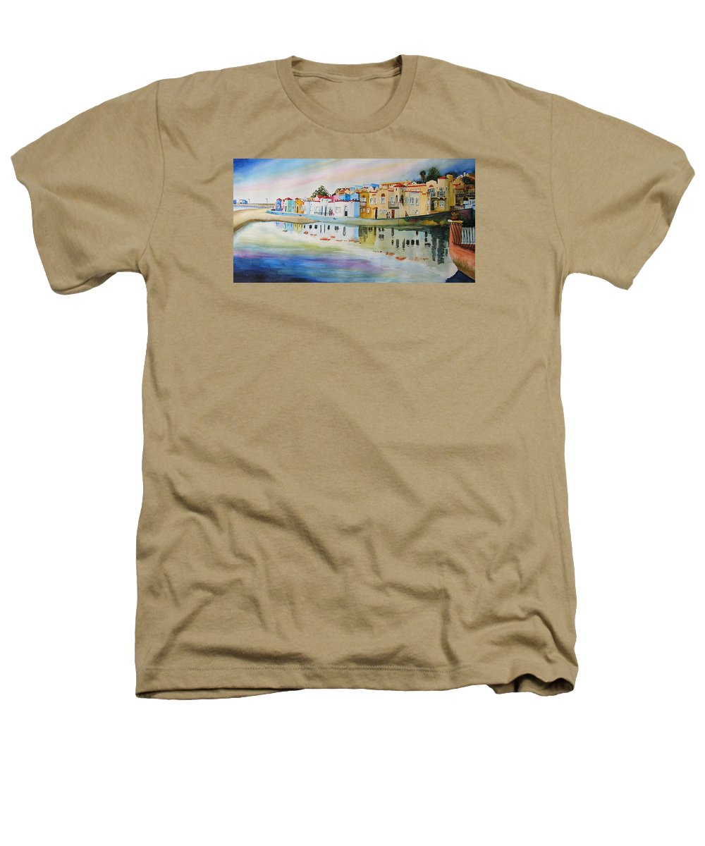 Capitola Heathers T-Shirt featuring the painting Capitola by Karen Stark