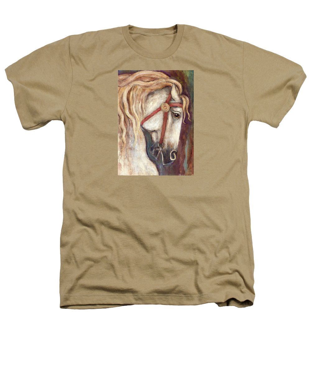 Horse Painting Heathers T-Shirt featuring the painting Carousel Horse Painting by Frances Gillotti